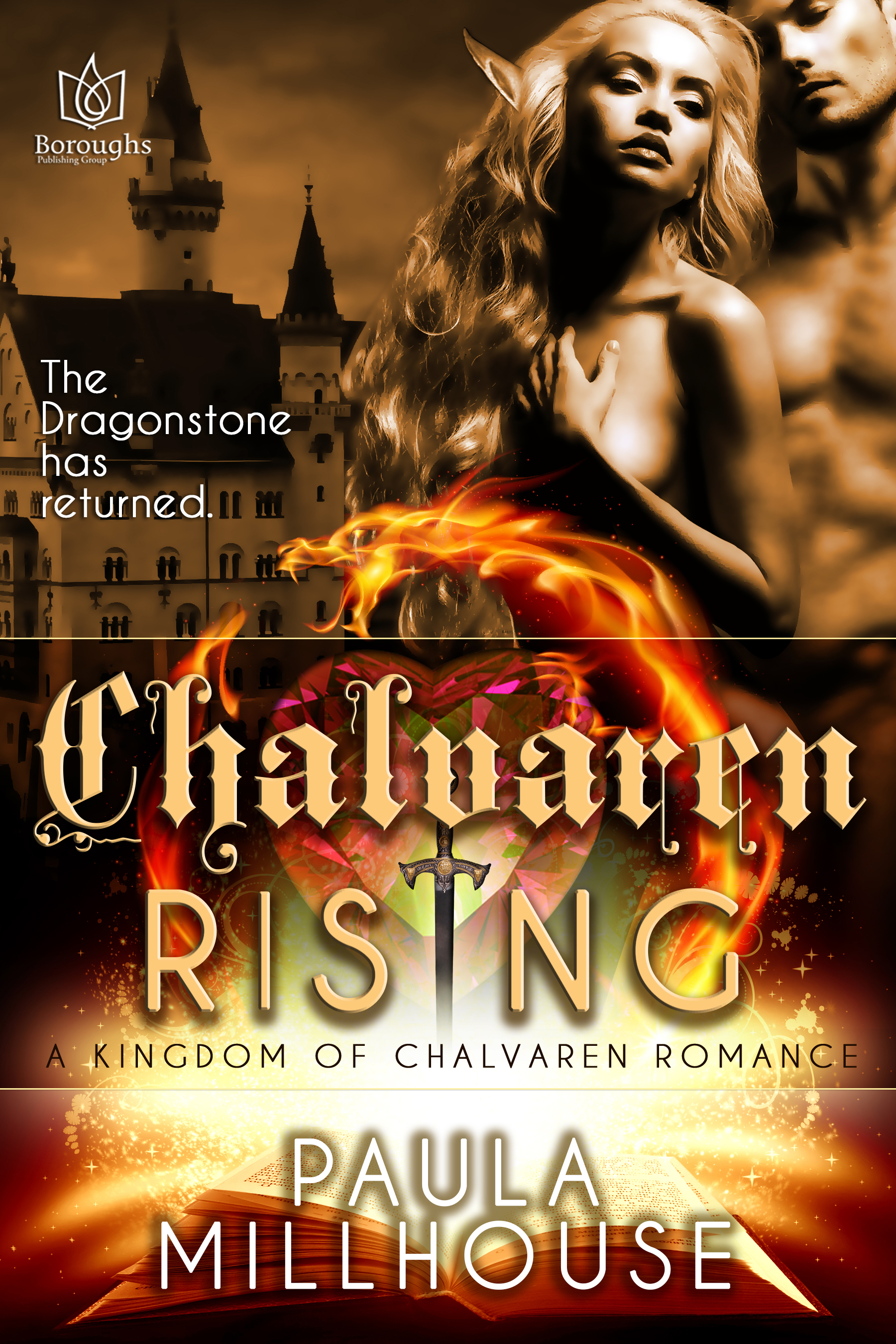Dragons, elf, nobility, female protagonist, Kingdom of Chalvaren, Fantasy, Romance, Love, Paula Millhouse, Boroughs Publishing Group, Magic, Wizard, Witch, Family