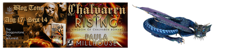 Chalvaren Rising Book Tour, Paula Millhouse, Boroughs Publishing Group, Magic, Dragons, Sword&Sorcery, FantasyRomance