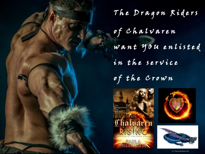 Dragon Warriors, Chalvaren Rising, Fantasy Romance, Paula Millhouse