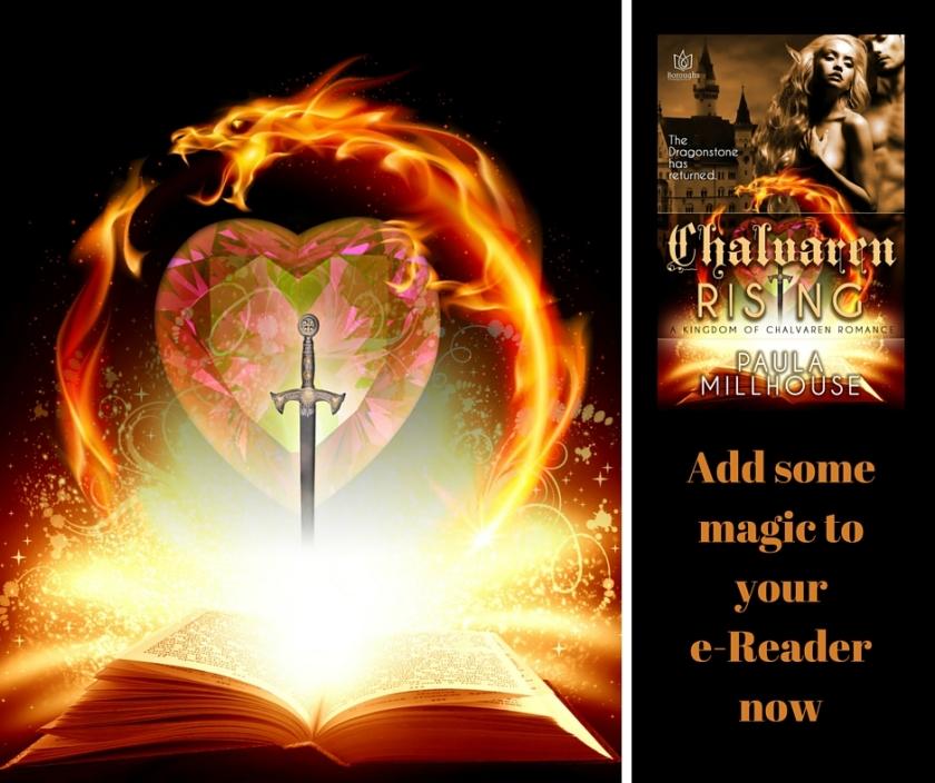 Fantasy Romance by Paula Millhouse, chalvaren rising, dragons, magic, wizards, nobility,