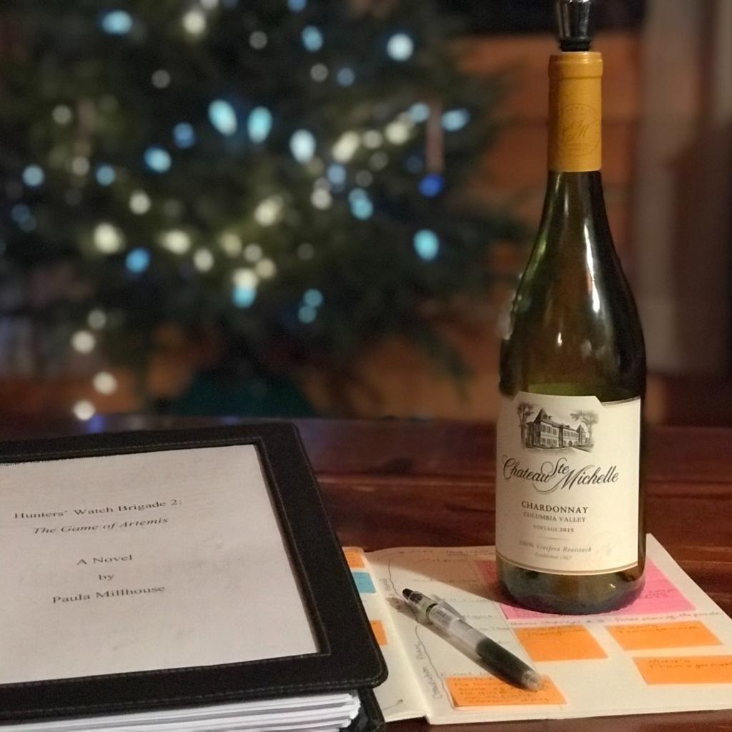 Paula Millhouse, celebrate, plotting, Hunters' Watch Brigade, wine
