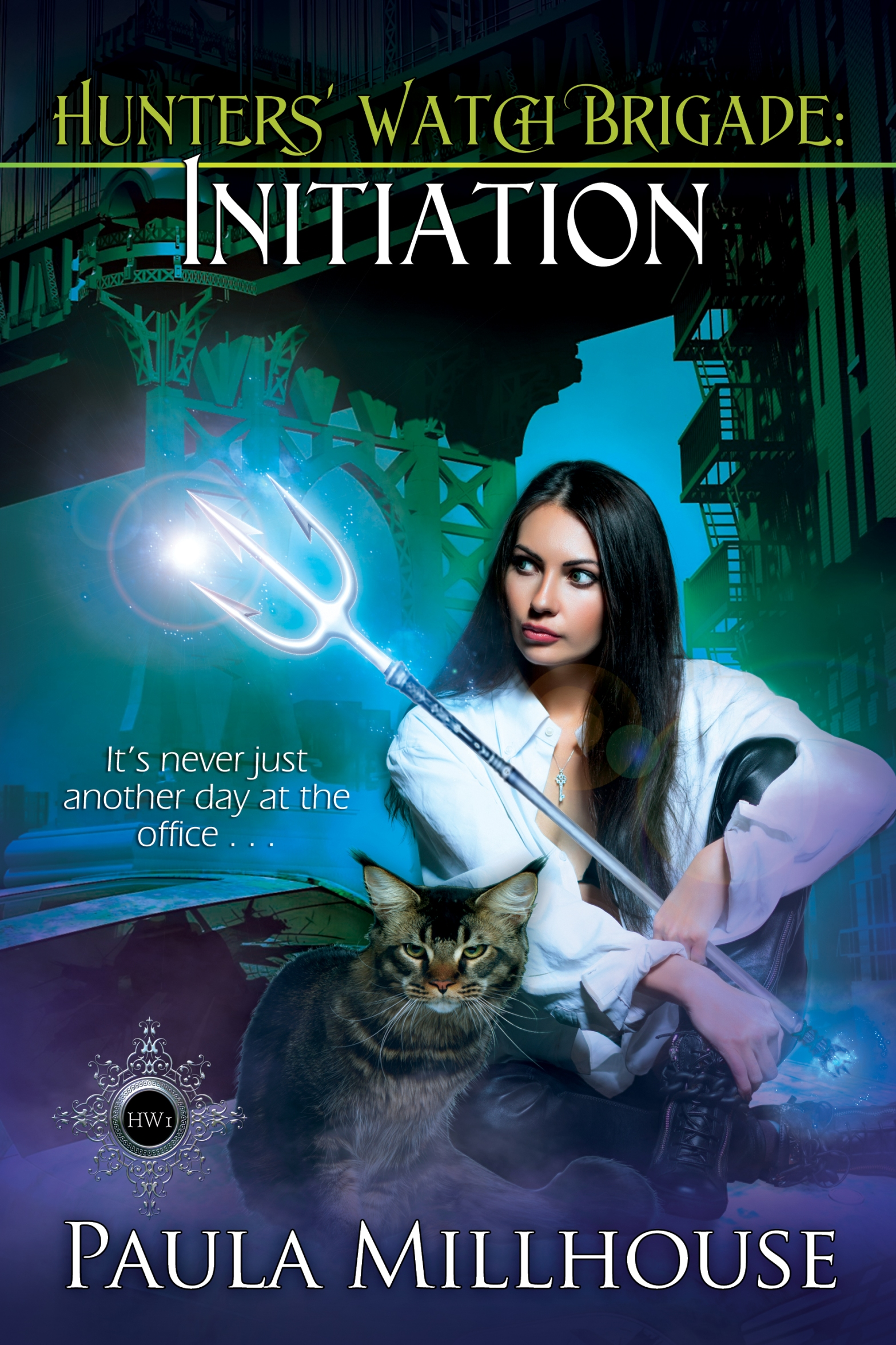 Paula Millhouse, Hunters' Watch Brigade, Initiation, Paranormal Romance, Urban Fantasy, Demigod, Witches, Wizards, Vampires, Shape shifters, Romance, Fiction
