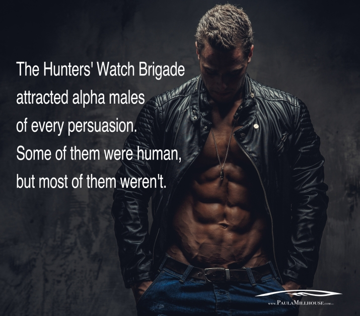 Paula Millhouse, Shade Vermillion, Hunters' Watch Brigade, Initiation, Paranormal Romance, Urban Fantasy, Demigod, Witches, Wizards, Vampires, Shape shifters, Romance, Fiction