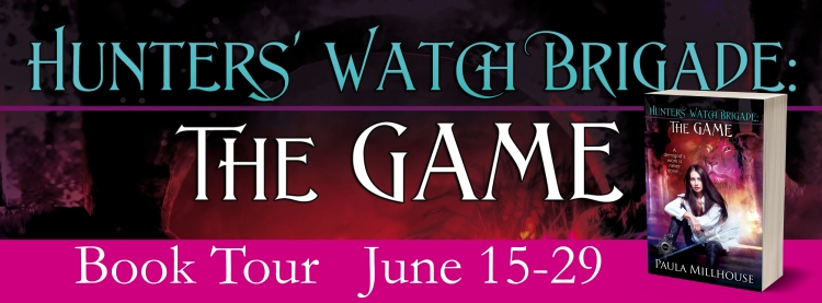 Paula Millhouse, Hunter's Watch Brigade: The Game, Book Tour, Witches, Wizards, Vampires, Magic, Gamers, Gamergirl, New York City, Phone App, Phonegame, Video game, Poseidon, Zeus, Artemis, Bast, Mount Olympus, Shapeshifters, Maine Coon Cat, Justice, Urban Fantasy, Paranormal Romance