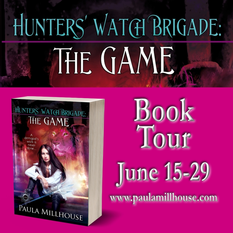 Paula Millhouse, Hunters' Watch Brigade, The Game, Paranormal Romance, Urban Fantasy, Demigod, Witches, Wizards, Vampires, Shape shifters, Romance, Fiction