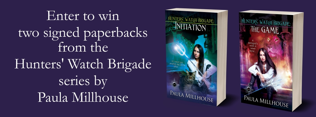Paula Millhouse, Book Tour giveaway, Hunters' Watch Brigade: The Game, Urban Fantasy, Paranormal Romance, Gaming, Gamers, Scavenger hunt, Manhattan, vampires, shifters, witches, Greek Mythology Win!